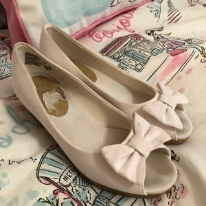 Girls open toe cotton shoes